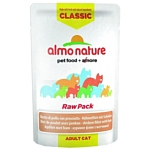 Almo Nature (0.055 кг) 1 шт. Classic Raw Pack Adult Cat Chicken fillet and Ham