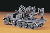 Hasegawa Полугусеничный тягач 8 Ton Half Track Quadruple 20mm AA