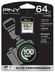 PNY Elite Performance SDXC class 10 UHS-I U1 64GB