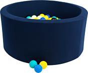 Misioo 90x30 200 шаров (темно-синий)