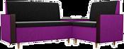 Mebelico Модерн 61166 (правый, черный/фиолетовый)