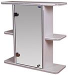 Гамма Шкаф с зеркалом 10 (белый, левый)