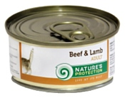 Nature's Protection Консервы Cat Adult Beef & Lamb (0.1 кг) 1 шт.