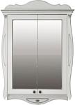 Atoll Шкаф с зеркалом Ривьера (ivory, патина серебро)