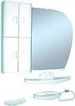 Белпласт Набор мебели для ванной голубой левый (с346-2830)