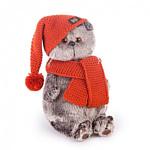 Basik & Co Басик в вязаной шапке и шарфе (22 см)
