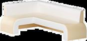 Mebelico Кармен 58834 (левый, бежевый/белый)