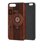 Case Wood для Apple iPhone 7/8 (палисандр, фотоаппарат)