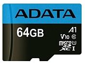 ADATA Premier microSDXC UHS-I U1 V10 A1 Class10 64GB + SD adapter