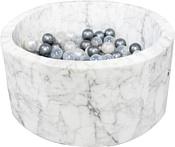 Misioo 90x40 200 шаров (белый мрамор)