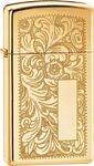Zippo Slim Venetian 1652B High Polish Brass