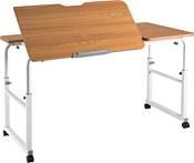 ErgoSmart Overbed Big Desk (дуб натуральный/белый)