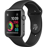 Apple Watch Series 1 42mm Space Gray with Black Sport Band (MP032)