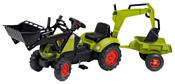 Falk Трактор-экскаватор с прицепом и двумя ковшами (992N)