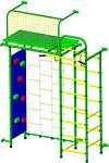 Пионер 10ЛМ со скалодромом (зеленый/желтый)
