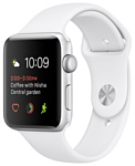 Apple Watch Series 1 42mm Silver with White Sport Band (MNNL2)