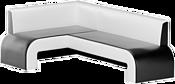 Mebelico Кармен 58836 (левый, черный/белый)