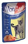 MonAmi (0.085 кг) 26 шт. Кусочки в соусе для кошек Цыпленок