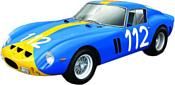 Bburago Ferrari 250 GTO 18-26305 (желтый/синий)