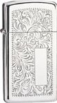 Zippo Slim Venetian 1652 High Polish Chrome