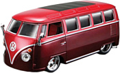 Bburago Volkswagen Van Samba 18-42004 (красный)