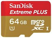 Sandisk Extreme PLUS microSDXC Class 10 UHS Class 1 80MB/s 64GB