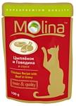 Molina Пауч для кошек Цыпленок и говядина в соусе (0.1 кг) 24 шт.