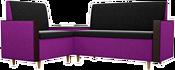 Mebelico Модерн 61166 (левый, черный/фиолетовый)