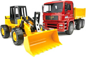 Bruder MAN Construction truck with articulated road loader 02752