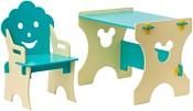 Столики Детям Гном ББ-4 (бирюзовый/бежевый)