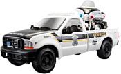 Maisto Форд F-350 Полицейский пикап с мотоциклом 32181 (белый)