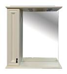 Misty Шкаф с зеркалом Лувр 75 L (Слоновая кость)