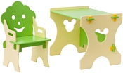 Столики Детям Гном СБ-4 (салатовый/бежевый)
