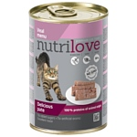 Nutrilove (0.4 кг) 1 шт. Cats - Delicious pate - Veal menu