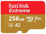 SanDisk Extreme microSDXC Class 10 UHS Class 3 V30 A2 160MB/s 256GB + SD adapter