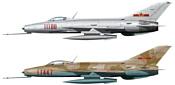 Hasegawa Многоцелевой истребитель J7 Chinese Air Force Limited (2 kits)