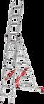 Новая высота NV 323 трёхсекционная усиленная 3x17 ступеней