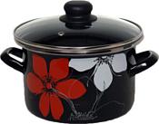 Завод Сантэкс 1-2250112 (цветок, красный/черный/белый)