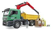 Bruder MAN TGS Truck with 3 glas recycling containers 03753