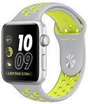 Apple Watch Nike+ 42mm Silver with Flat Silver/Volt Nike Band (MNYQ2)