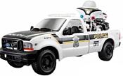 Maisto Форд F-350 Полицейский пикап с мотоциклом 32186 (белый)