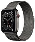 Apple Watch Series 6 GPS + Cellular 44mm Stainless Steel Case with Milanese Loop