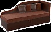 Mebelico Дюна 59403 (вельвет коричневый/экокожа коричневая)