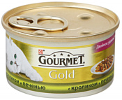 Gourmet Gold с кроликом и печенью 0.085 кг
