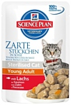 Hill's (0.085 кг) 1 шт. Science Plan Feline Sterilised Cat Young Adult with Salmon Pouch