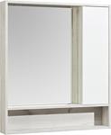 Акватон Шкаф с зеркалом Флай 80 1A237702FAX10 (белый/дуб крафт)