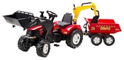 Falk Трактор-экскаватор с прицепом и двумя ковшами (995W)