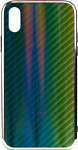 EXPERTS AURORA GLASS CASE для iPhone X/XS с LOGO (зеленый)