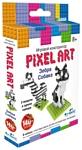 Origami Pixel Art 02307 Зебра и собака