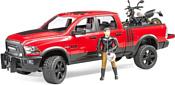 Bruder RAM 2500 Power Wagon including Ducati Desert Sled 02502